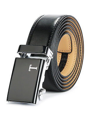 No Belt Tonywell Mens Leather Ratchet Belts with New Style Open Buckle CN