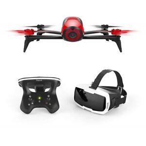 Parrot-Bebop-2-FPV-rot-Set-mit-Skycontroller-und-FPV-Brille-Kamera-Drohne