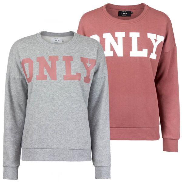 ONLY Damen Oversize Sweatshirt Sweater Pullover Pulli Logo Print lässig onlBETTE