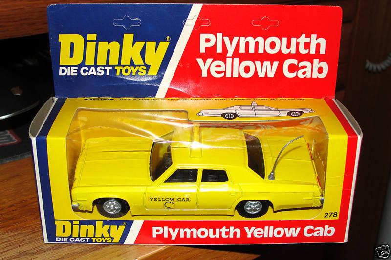 DINKY  278 PLYMOUTH jaune CAB MIB 1978 ENGLAND RARE