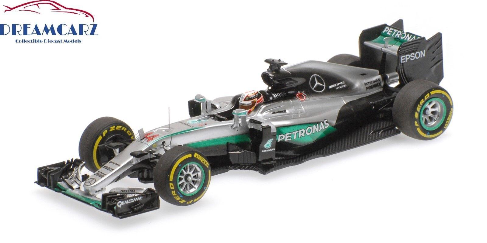Minichamps 417160744 1 43 Mercedes AMG W07 F1 2016 Abu Dhabi Lewis Hamilton