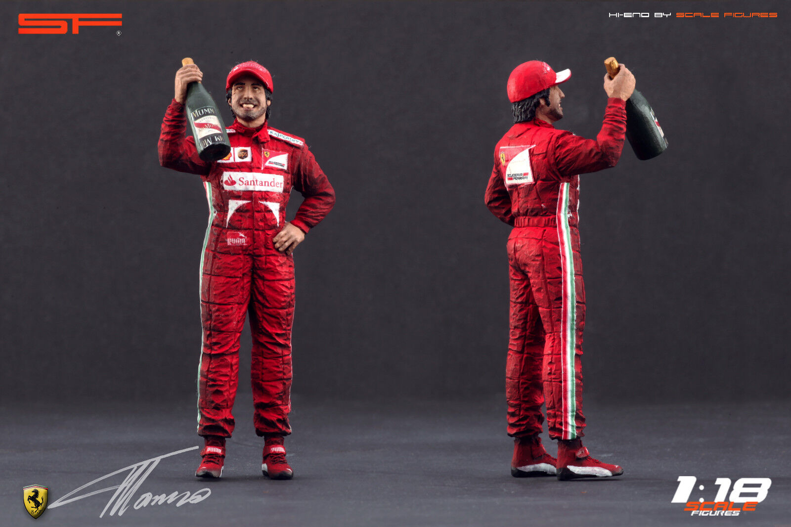1:18 Fernando Alonso VERY RARE figurine NO CARS  for ferrari diecast