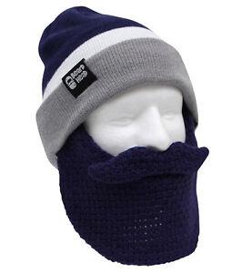 ba052b7427847 Dallas Cowboys Classic NFL Blue Grey Beard Mask Winter Hat DAL ...