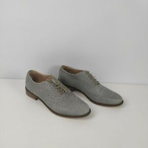 WOMENS-JONES-GREY-LEATHER-BROGUE-LACE-UP-SMART-SHOES-UK-7-EU-40