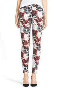 NWT-7ForAllMankind-MidRise-Skinny-Contour-Waistband-jeans-Gallery-Floral-25-26