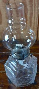 Kerosene Lamp Coal Oil Lantern Crystal Clear Glass Train Design