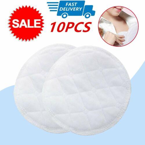 10PCS Bamboo Reusable Breast Pads Organic Plain Nursing Breast Pads Washable D@
