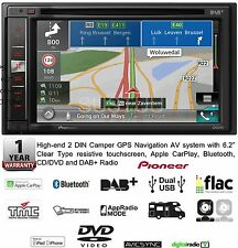 "NEW PIONEER AVIC F980DAB C 2 DIN  6.2"" Camper GPS Bluetooth CD/DVD & DAB+ Radio"