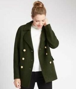 554e0387226 Details about M S per Una Boucle Double Breasted 2 Pocket Peacoat size 8  RRP £89 New