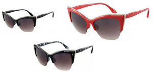 Retro Cateye Vintage Sonnenbrille Damen UV Schutz 400 Katzenaugen Pin up Sommer kvtmV