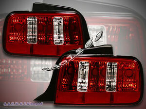 2005 2009 ford mustang gt tail light red style pair 2006. Black Bedroom Furniture Sets. Home Design Ideas