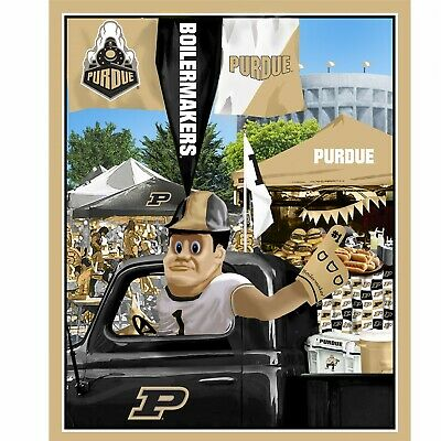 "Purdue Boilermakers NCAA Tailgate Panel 36x43/"" fabric-PUR-1157-$10.49//panel"