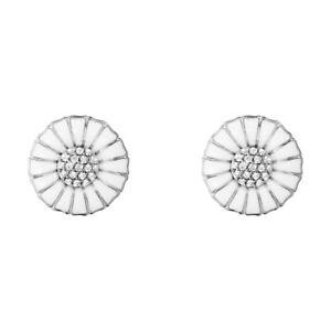 e59c70761 Image is loading Georg-Jensen-Sterling-Silver-DAISY-Earrings-with-Diamonds