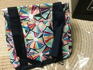 f62e8541cb9 Details about Thirty One SMALL Utility Tote - PINWHEEL PARTY PATTERN