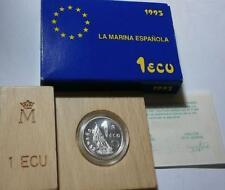 ESPAÑA. 1 Ecu plata 1995 proof Homenaje a la Marina Española