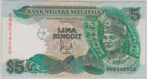 Mazuma *M929 Malaysia 6th $5 NN8548660 With Cross AUNC