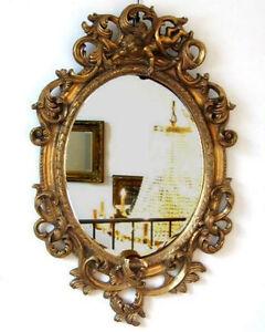 Schön ... Wandspiegel Oval Barock Rahmen Mit Engel Deko Spiegel