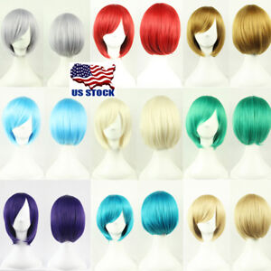 Women-Short-Straight-Synthetic-Hair-Bob-Cosplay-Wigs-Cosplay-Party-Anime-Wig-USA