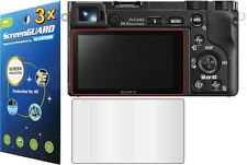 3x Clear LCD Screen Protector for Sony Alpha NEX-7 NEX-6 A5000 A5100 A6000 A6300