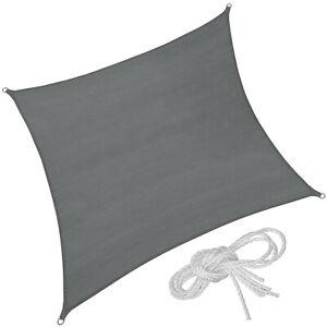 Vele Parasole Solare Protezione Raggi UV Telo Sole Quadrata Arredamento Grigio