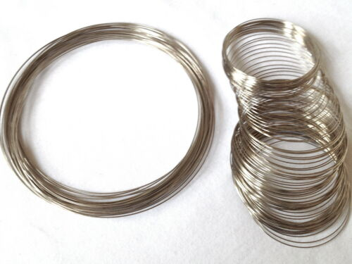 110mm    25-100 Pieces MEMORY WIRE Steel  bangle /& Choker  55mm