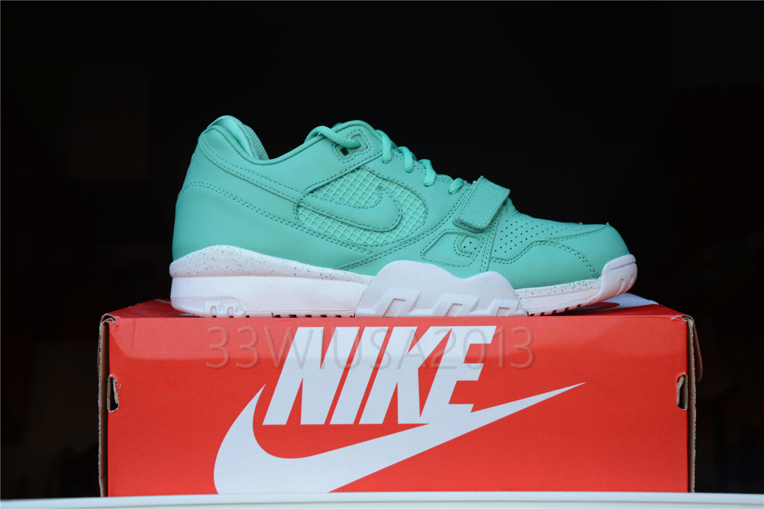 Men's NIKE AIR TRAINER 2 PREMIUM Crystal Mint/blanc 708459-300 DS Yeezy Roshe