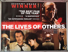 Cinema Poster: LIVES OF OTHERS, THE 2007 (Quad) Ulrich Mühe Martina Gedeck