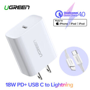 Ugreen-Quick-Charge-4-0-3-0-PD-Charger-18W-USB-Type-C-Fast-Charger-for-iPhone-11