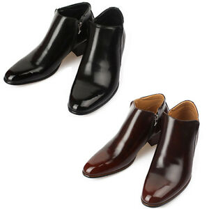 sale usa online discount sale look out for Details about Mooda Mens Leather Zip Ankle Boots Classic Formal Lace up  Dress Shoes Winstep