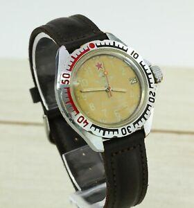 Vostok-Wostok-Komandirskie-2414-Militaer-russische-mechanische-Herren-Armbanduhr