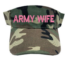PINK ARMY WIFE CAMO CAMOUFLAGE SUN VISOR MILITARY LAW ENFORCEMENT