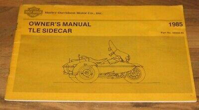 1985 1986 1987 1988 1989 Harley Davidson RLE SIDECAR Owners Operators Manual NEW