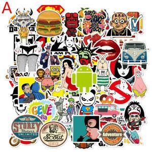 50pcs-Laptop-Stickers-DIY-Car-Skateboard-Suitcase-Vinyl-Decals-Graffiti-Sticker
