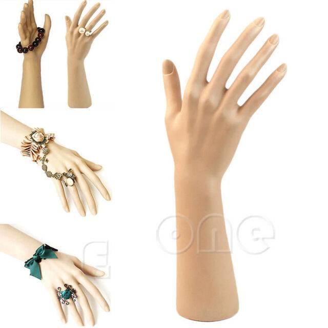 1pc Fake Mannequin Hand Model Nail Art Watch Ring Bracelet Gloves