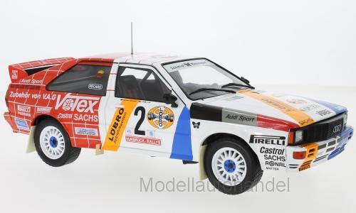Audi Quattro  2 Schmidt Motorsport, Rallye DM, Hunsrück Rallye - 1 18 IXO  NEW