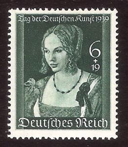 DR-Nazi-3d-Reich-Rare-WW2-STAMP-Hitler-Woman-Deutsches-Gold-Kunst-Treasur-Museum
