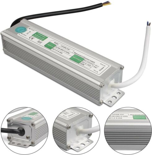 DC12V LED Trafo Transformator Netzteil Wasserdicht IP67 f LED Strip 50W 4.16A