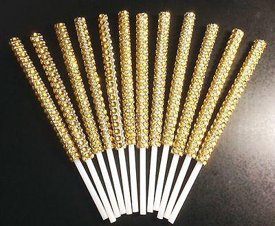 Cake Pop Sticks - Gold Bling x 12
