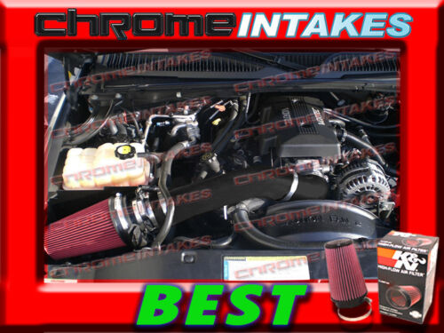 WB 99-06 07 CHEVY//GMC//CADILLAC TRUCK//SUV 4.8//5.3//6.0 COLD AIR INTAKE BLK RED+K/&N