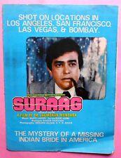 Suraag Bollywood Movie Booklet Actor/Actress Sanjeev Kumar & Shabana Azmi (B30)