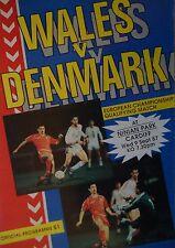 Programm LS 9.9.1987 Wales - Dänemark