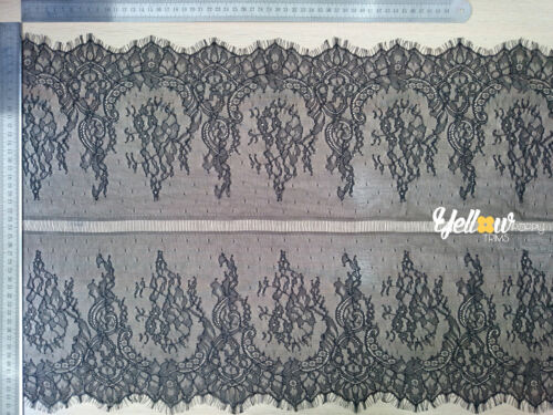 """Beautiful Double Sided Scalloped Eyelash Lace Trim 2.74 Mtr//Piece 45cm//18/"""" Wide"""