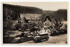 LEONBERG Kurhaus Glemseck / Biker-Treff / Oldtimer * Foto-AK um 1930
