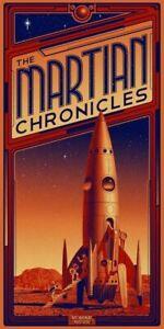 Plaque métal  vintage chronique de mars   30 X 20 CM