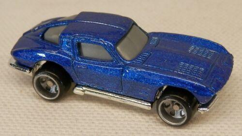 "Micro Hot Wheels 1963 Chevrolet Corvette Blue Mini Under 2/"" Long!"