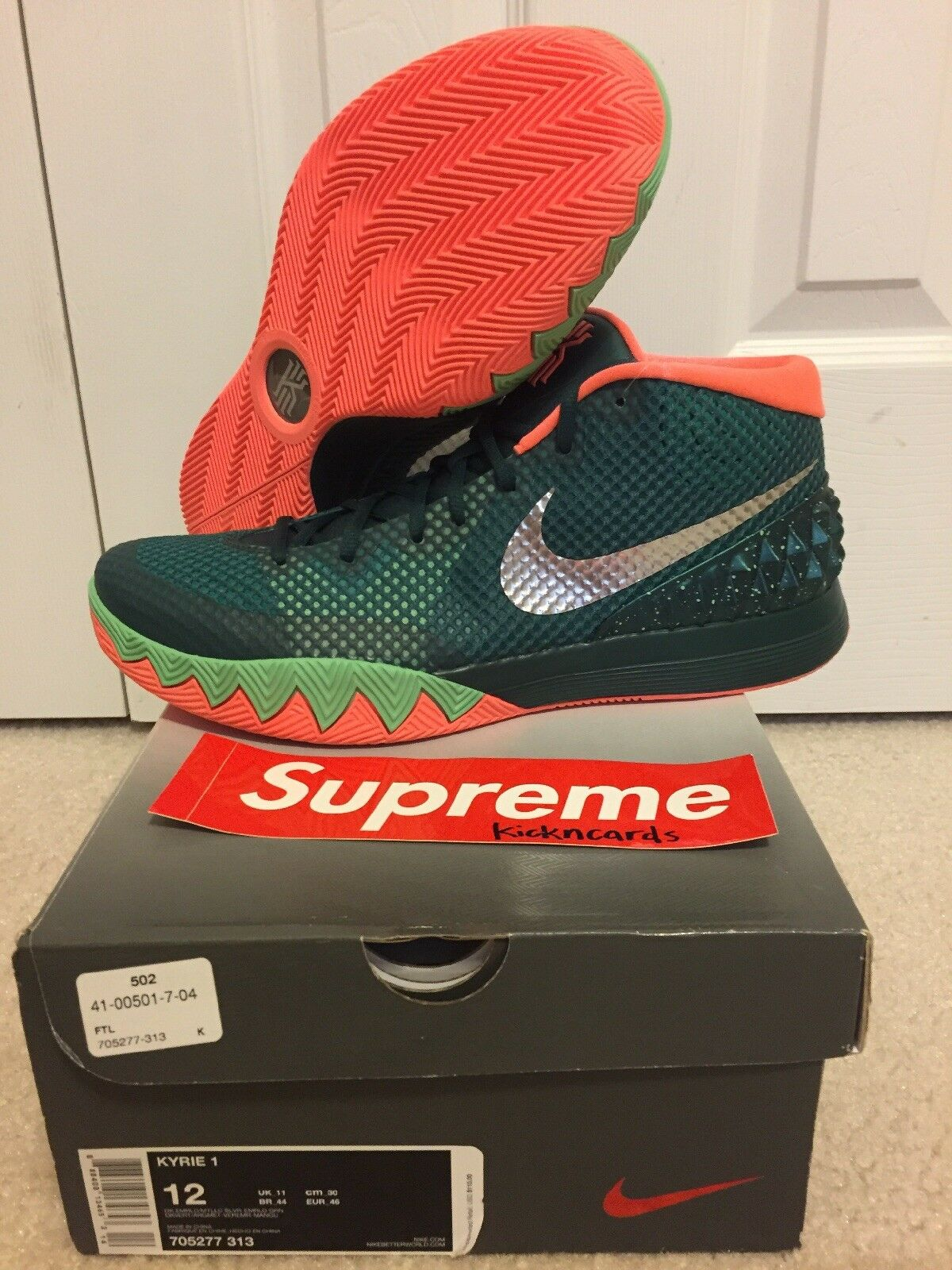 Nike Kyrie 1 Green Venus Flytrap Emerald Green 1 Pink Mens Size 12 (705277-313) 2fbd48
