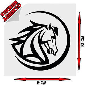 Sticker Adesivo Prespaziato Decal Cavallo Tribale Horse Testa Auto Scooter Moto