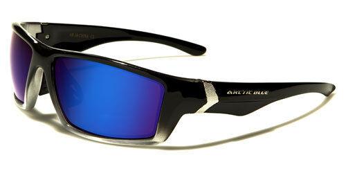 Arctic Blue Sunglasses AB1402 UV400 Davis E5 black silver brown lens mirrored