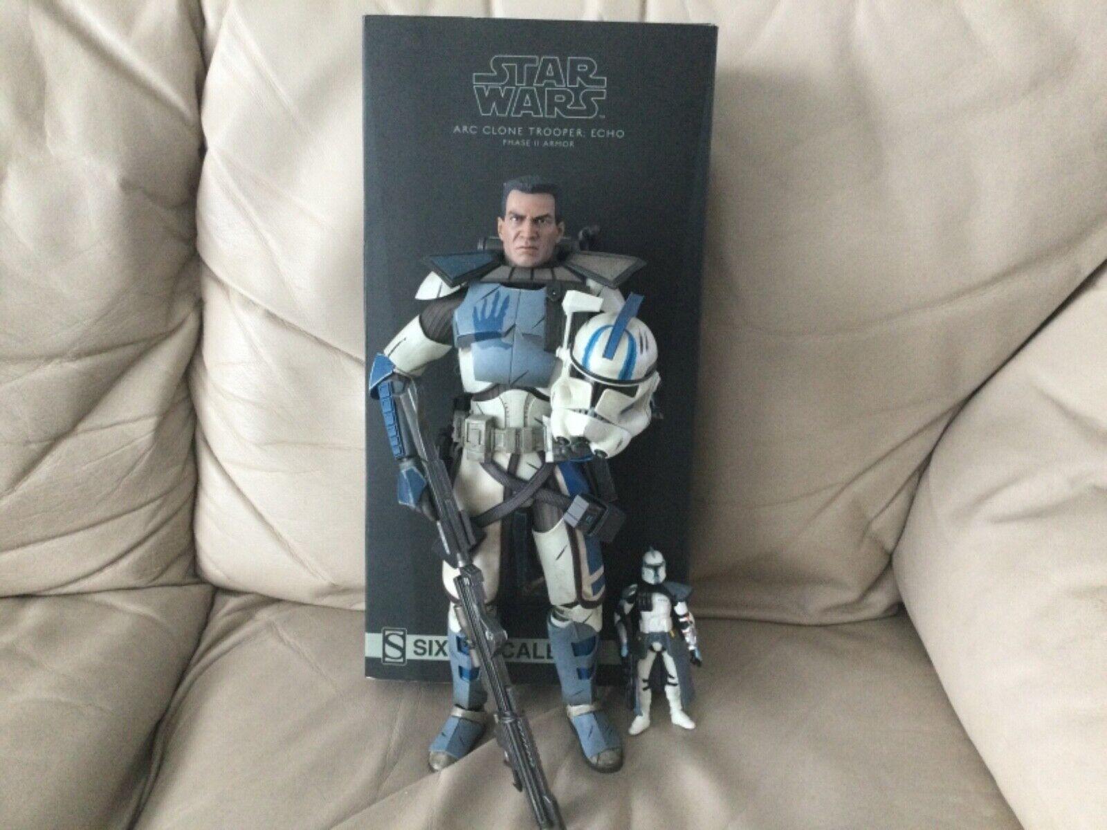 Sideshow ARC Trooper: Echo phase II Armor 1/6 Figure used complete  on eBay thumbnail