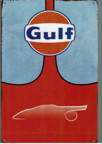 *****Tolle Deko für Werkstatt Schild  GULF  Sammler Öldose Tankstelle Retro*****